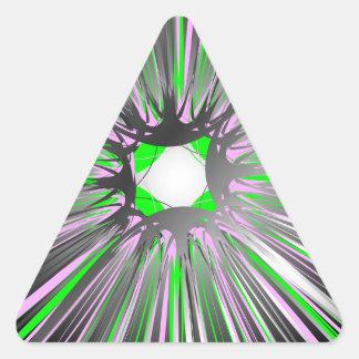 動的ラインの中央爆発 三角形シール