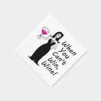 勝つことができない時悪賢いワインの口やかましい女単にワインを飲むため スタンダードカクテルナプキン