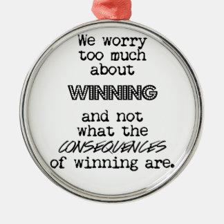勝利および結果 メタルオーナメント