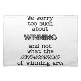勝利および結果 ランチョンマット
