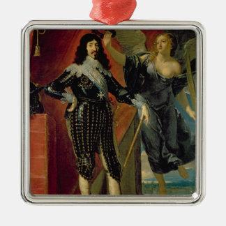 勝利によって戴冠するルイXIII 1635年 メタルオーナメント