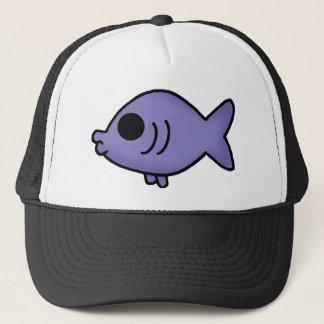 勝利のための紫色の魚 キャップ