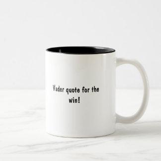 勝利のためのVaderの引用文! ツートーンマグカップ