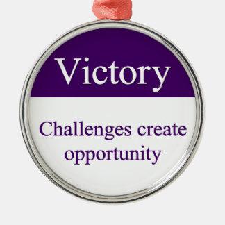 勝利の終わる挑戦 メタルオーナメント