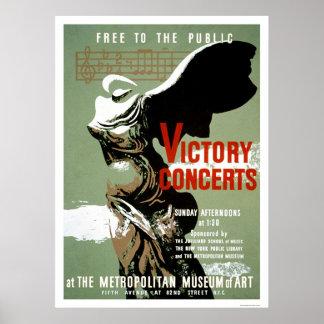 勝利コンサートはNYC 1938 WPAに会いました ポスター
