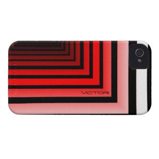 勝利者の黒くおよび赤いiPhone 4カバー Case-Mate iPhone 4 ケース