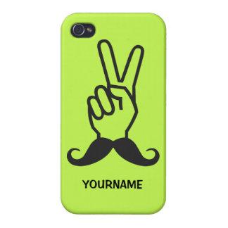 勝利髭のカスタムのケース iPhone 4/4Sケース