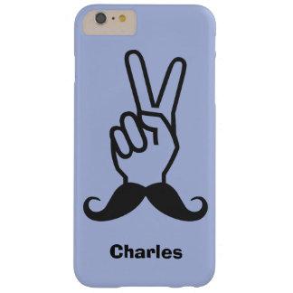 勝利髭カスタムなモノグラム及び色 BARELY THERE iPhone 6 PLUS ケース