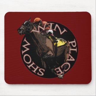勝利、場所、ショー-競馬のギア マウスパッド