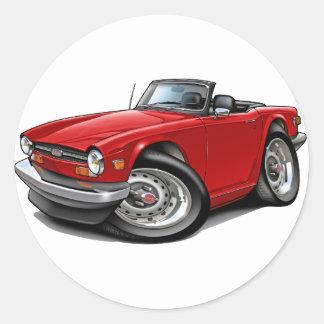 勝利TR6の赤車 ラウンドシール
