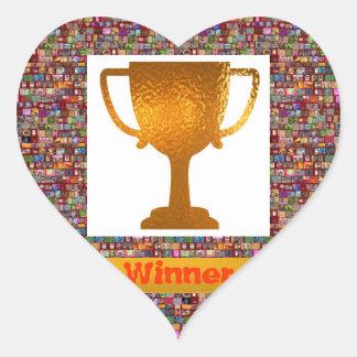 勝者のコップ(あなた専有物への変更の文字) ハートシール