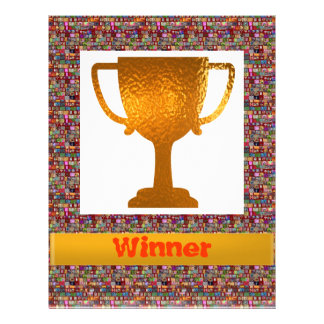 勝者のコップ(あなた専有物への変更の文字) レターヘッド