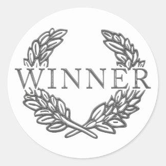 勝者のステッカー ラウンドシール