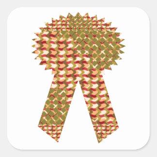 勝者のリボン。 芸術的なパターン低価格の店 スクエアシール