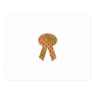 勝者のリボン。 芸術的なパターン低価格の店 ポストカード