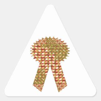 勝者のリボン。 芸術的なパターン低価格の店 三角形シール