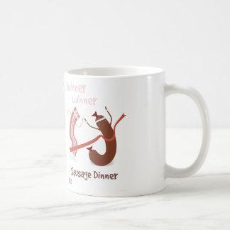 勝者の勝者のソーセージの夕食のマグ コーヒーマグカップ