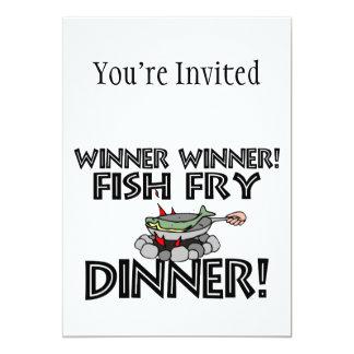 勝者の勝者の魚揚げ物の夕食 カード