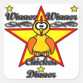 勝者の勝者の鶏の夕食 スクエアシール
