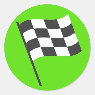 勝者の旗Emoji ラウンドシール