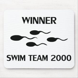 勝者の水泳チーム2000年のアイコン マウスパッド