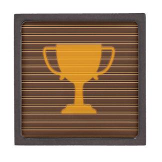 勝者の金ゴールドホイルのストライプのトロフィのコップ賞NVN698 ギフトボックス
