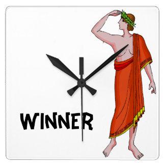 勝者 スクエア壁時計
