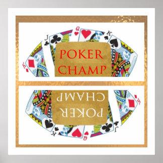 勝者-トランプのポーカーのチャンピオンの芸術--を促進して下さい ポスター