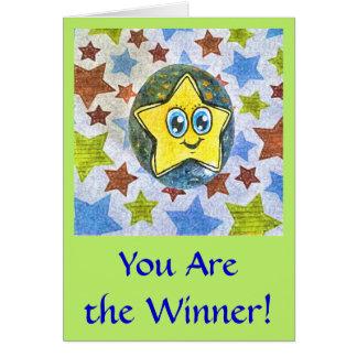 勝者、漫画の星の挨拶状です カード