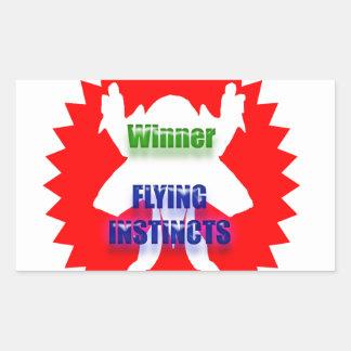 勝者-飛行本能 長方形シール