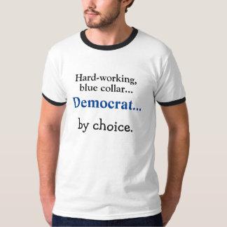 勤勉な、ブルーカラーの民主党員の   Tシャツ