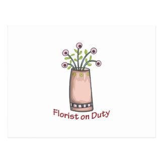 勤務中の花屋 ポストカード