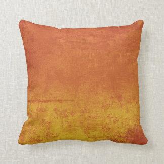勾配のオレンジ日没の装飾用クッション クッション
