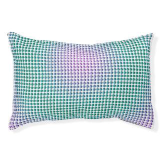 勾配のピンクのティール(緑がかった色)のターコイズの水玉模様パターン
