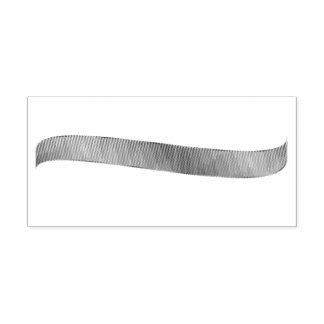 勾配の現実的なリボンのゴム印 ラバースタンプ
