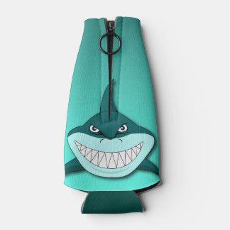 勾配の背景を持つ鮫 ボトルクーラー