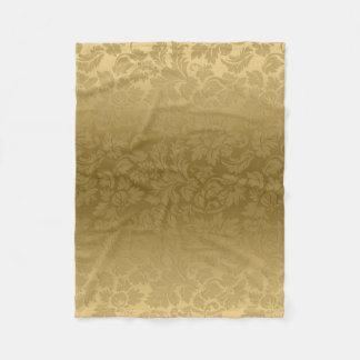 勾配の金ゴールドのダマスク織 フリースブランケット