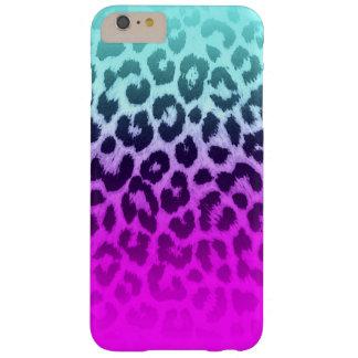 勾配のTiffanyの青いピンクのチータのヒョウのプリント Barely There iPhone 6 Plus ケース