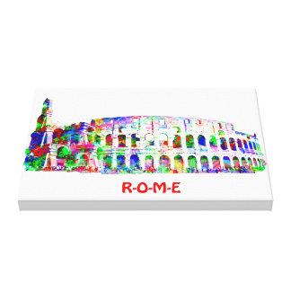 包まれたなキャンバスを絵を描くColosseum キャンバスプリント