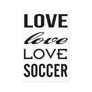 包まれたな愛サッカーのギャラリー キャンバスプリント