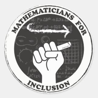 包含のステッカーのための数学者 ラウンドシール