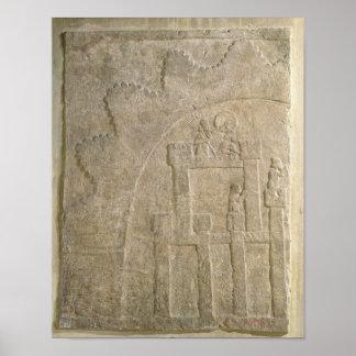 包囲の下の要塞、Nimrudから、イラク ポスター