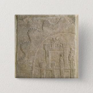 包囲の下の要塞、Nimrudから、イラク 5.1cm 正方形バッジ