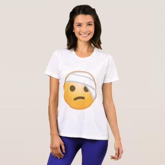 包帯の顔Emoji Tシャツ