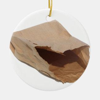 包装紙のバッグ セラミックオーナメント