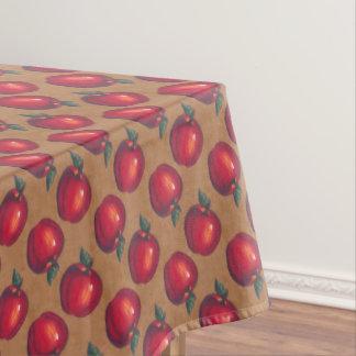 包装紙の赤いりんご テーブルクロス