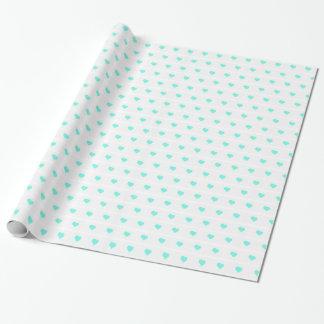 包装紙のSeafoamのハート 包装紙