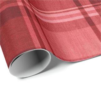 包装紙-赤いスコットランドのタータンチェック ラッピングペーパー
