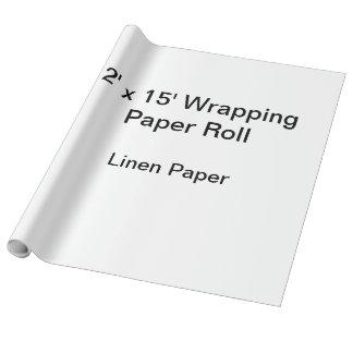 包装紙(2x15ロール、リンネル紙)の ラッピングペーパー