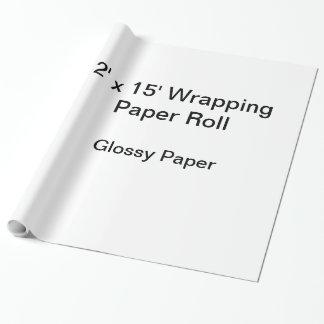 包装紙(2x15ロール、光沢紙) ラッピングペーパー